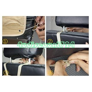 Black Auto Car Back Seat Organizer Multipocket Storage