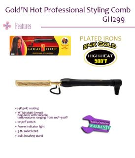 Gold N Hot Proffessional Styling Comb Canada Seller