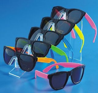 Cool Assorted Color Neon Sunglasses 80s Pool Luau Party Favors