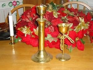 Vintage Antique Large Brass Candle Holder Home Decor