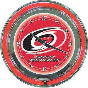 Neon Clock   NHL Hockey Carolina Hurricanes Logo   New