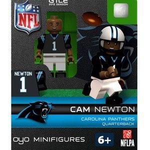 CAROLINA PANTHERS CAM NEWTON NFL OYO FOOTBALL MINI FIGURE LEGO