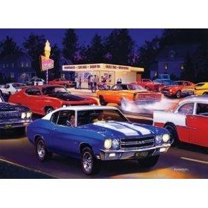 71210 1000 PC Jigsaw Puzzle Fast Freds Drive in Cars