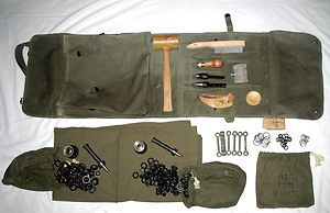 MILITARY TENT REPAIR KIT ARMY SURPLUS CANVAS TENSIONERS GROMETS