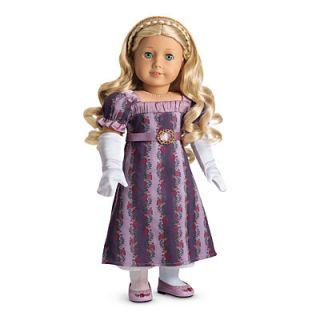 NEW NIB American Girl Carolines Holiday Gown Outfit for Dolls Purple