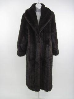 Carly Monterey Brown Faux Fur Long Jacket Coat Size 10