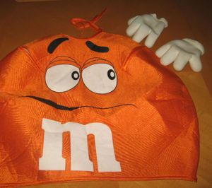 Orange M M M M Candy Costume Unisex Kids Boys Girls 7 8 9 10