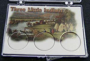 Three Little Indians 3 Coin Holder 03D Take A Look