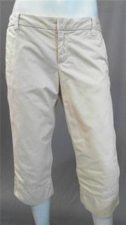 Gap Misses 6 Cotton Casual Capri Pants Khaki Solid Slacks Designer