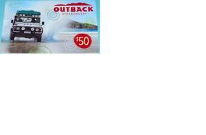 Outback Steakhouse $50 Carrabbas Bonefish Grill Flemings Gift Card