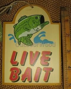 Cannon Falls Fish Live Bait Retro Fishing Sign Ornament