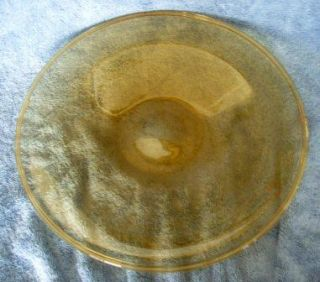 Antique Carder Steuben Topaz Round with Turned Edge