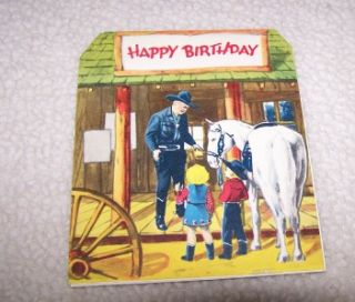 hopalong cassidy fold out card un used search