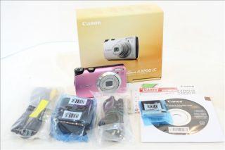 Canon PowerShot A3200 Is 14 1 MP Digital Camera Pink Free Case 4GB SD