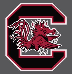 South Carolina Gamecocks Big C Vinyl Die Cut Decal Sticker 3 Sizes
