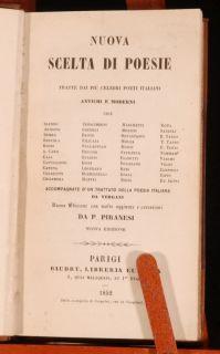1852 Italian Poets Piranesi Dante Castiglione Tasso Gaurini