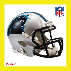 CAROLINA PANTHERS OFFICIAL NFL MINI SPEED FOOTBALL HELMET by RIDDELL