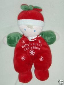 Carters Just One Year Baby First Christmas Rattle Doll