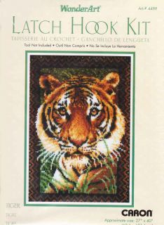 Caron Natura Latch Hook Kit 27 x 40 Tiger Rug Sale 4498