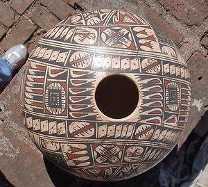 Large Oscar Quezada Mata Ortiz Casa Grande Pot Vase Pottery