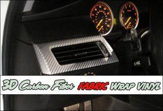 3D Gloss Silver Carbon Fiber Fabric Wrap Vinyl 12X50