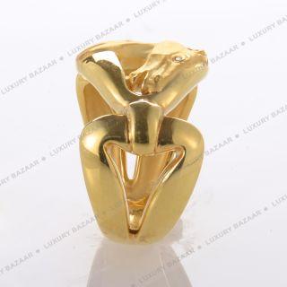 Carrera Y Carrera 18K Yellow Gold and Diamond Horse Ring