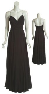 Elegant Carlos Miele Black Silk Eve Gown Dress 40 8 New