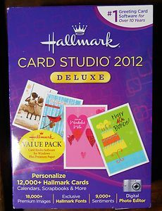 Hallmark Card Studio 2012 Deluxe Greeting Card Software Opened Missing