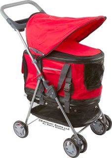 New 3 in 1 Red Pet Stroller Carrier Car Seat Dog Cat Pet Str 17 Red