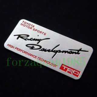 Hi Q 3D Name Plate Sticker Emblem for Toyota TRD Z46