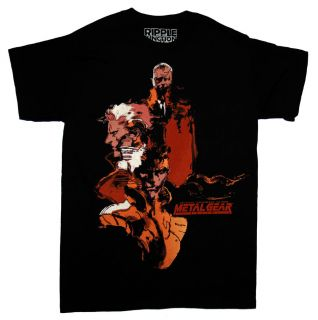 Metal Gear Solid Solid Snake Big Boss Konami Video Game T Shirt Tee