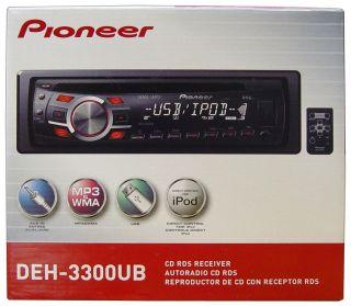 Pioneer DEH 3300UB (DEH3300UB) Stereo Car Radio Receiver iPod iPhone