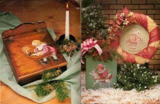 Vintage 1988 Delane Lange Christmas Memories Decorative Art Tole