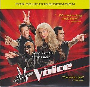 DVD THE VOICE Christina Aguilera Carson Daly CeeLo Green Blake Shelton