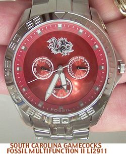 South Carolina Gamecocks Fossil 3 Hand Analog Watch Wm