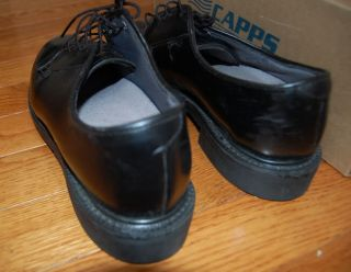Capps Uniform footwear Womens Black Leather Dress Oxford Shoes Size 7