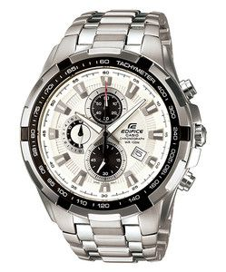 CASIO EDIFICE EF539D 7A MENS 100M STAINLESS STEEL CHRONOGRAPH WATCH