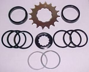 SPEED CONVERSION KIT Change multiple speed cassettes into single speed