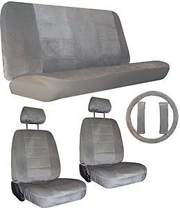 Grey Gray Car Truck SUV Seat Covers Loaded Interior Package 1