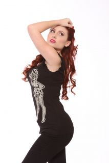 Lucky 13 Voodoo Doll Low Back Ribbed Tank Lucky 13 Ladies