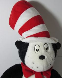 Dr Seuss Cat in The Hat Stuffed Plush Animal Toy 24 Black