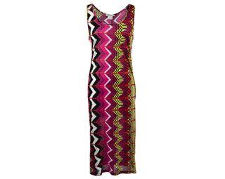 Carven Womens Aztec Tank Print Maxi Dress Small S