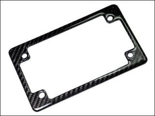 Real Vacuumed Carbon Fiber US Motorcycle License Plate Tag Frame