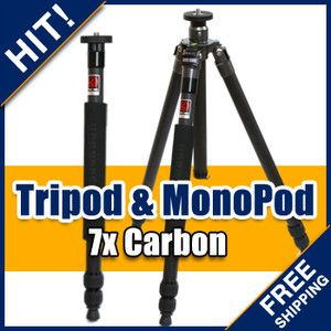 HorusBennu C 2830V Carbon Fiber Tripod Convertible Monopod DSLR Camera