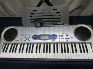 CASIO LK 43 ELECTRONIC KEYBOARD W/ STAND   KEY LIGHTING SYSTEM MIDI 61