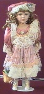 Vintage Victorian style Cathay Collection Porcelain doll Jette Limited