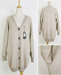 High Quality Polar Fleece Loose Khaki Cardigans AUZ 8 12〓