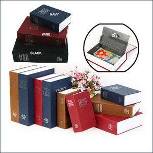 Secret Book Hidden Home Safe Box Security Cash Box Key Lock WINE S