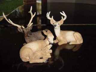 CASTAGNA od ITALY figurines LOT DEER FAMILY Fawn & Doe BUCK Layout