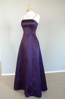 PURPLE Joy Strapless Corset Bridesmaid Formal Prom Dress NEW 08